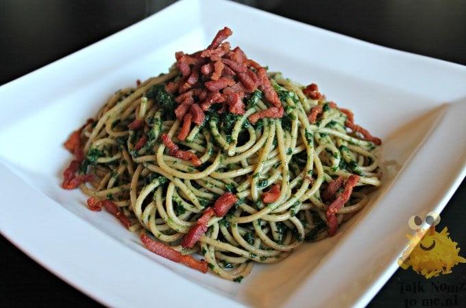 Spaghetti met Spinazie en Spek 1