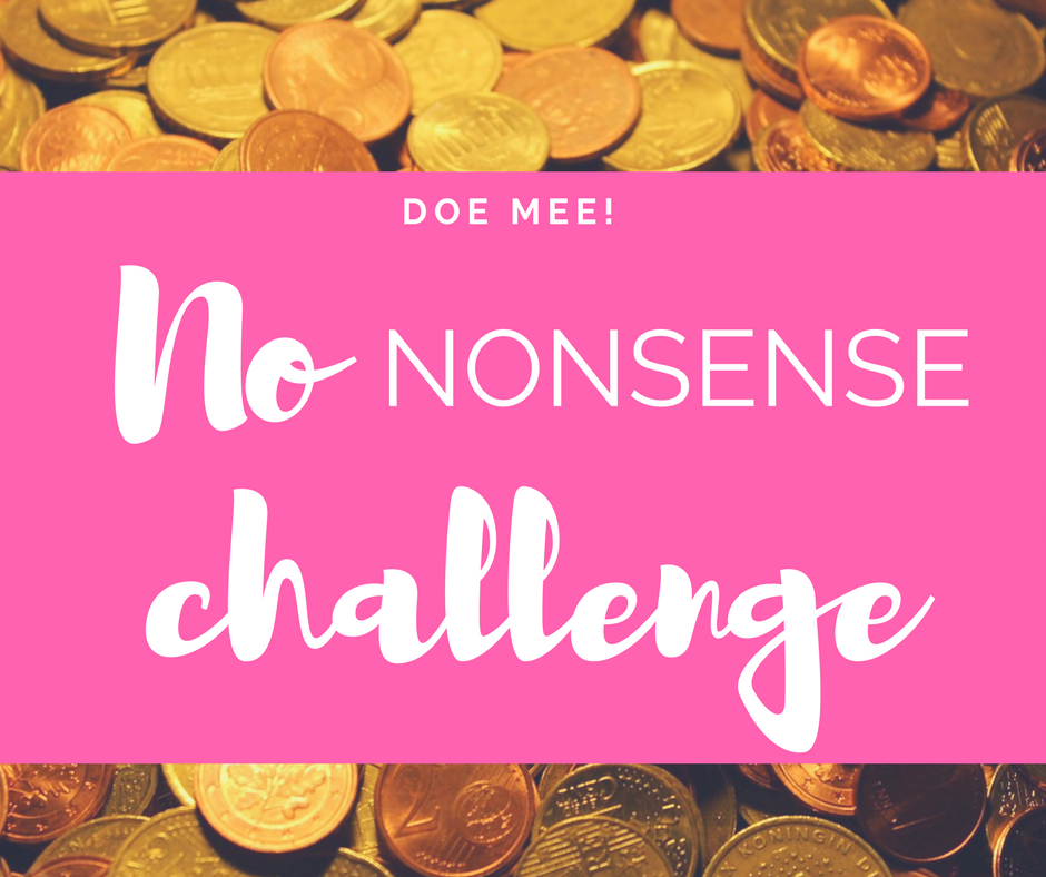Vernieuwde no-(nonsense)-spend challenge