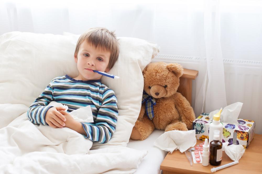 ziek kind met teddybeer - maximaal eigen risico