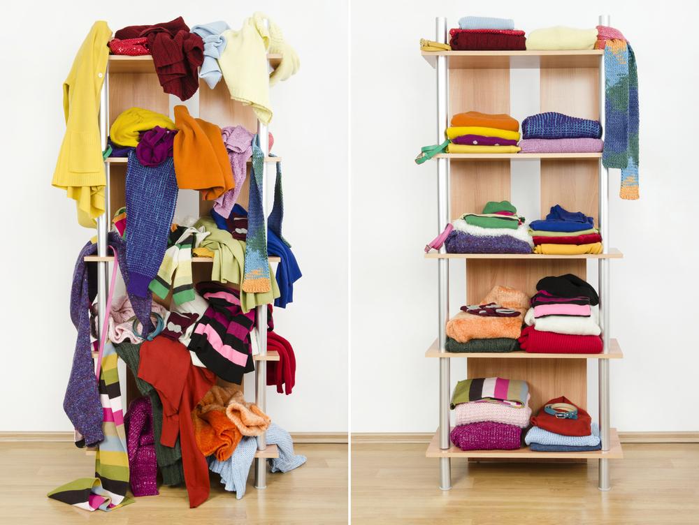 opgeruimde kledingkast - opruimtips - Meer geld, minder stress